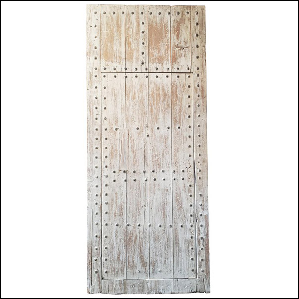 White Washed Moroccan Wooden Door