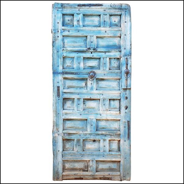 Funky Blue Moroccan Wooden Door