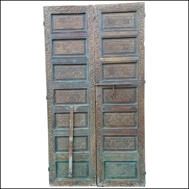 Old Brown Moroccan Wooden Door