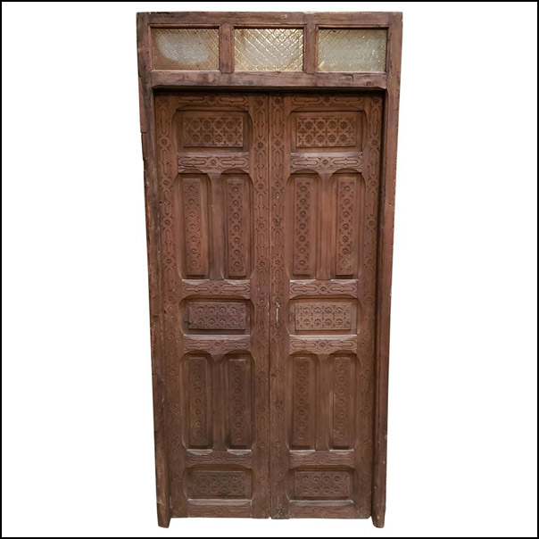 Dark Brown Moroccan Wooden Door