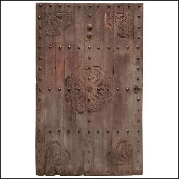 Small Moroccan Wooden Door, Single Panel