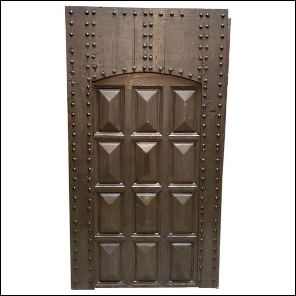Dark Brown / Green Moroccan Wooden Door