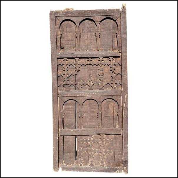 Very Old Moroccan Wooden Door, Single Panel
