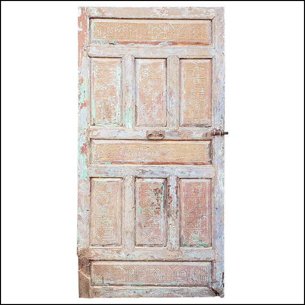 Single Panel Moroccan Wooden Door, Old