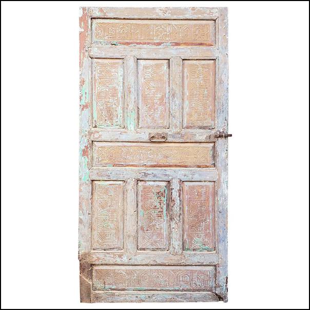 Single Panel Moroccan Wooden Door, Old
