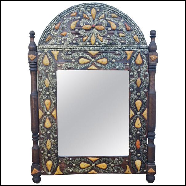 Moroccan Camel Bone Mirror, Har11