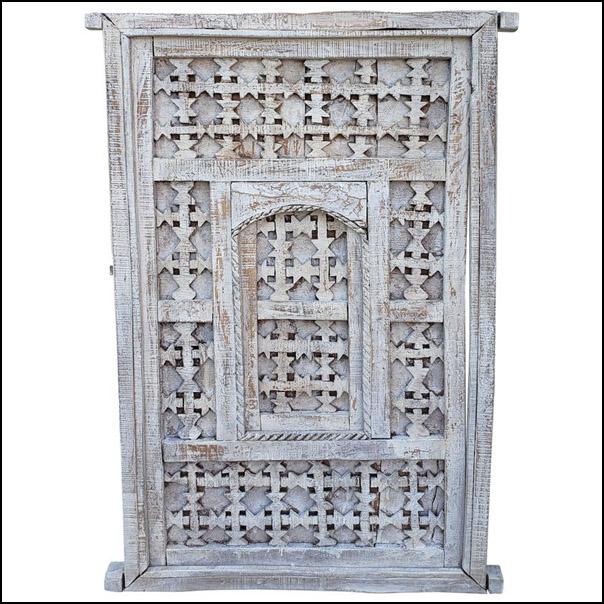 Distressed Moroccan Door / Gate / Shutter, Whitewash