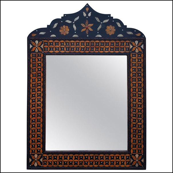 Moroccan Tika Camel Bone Mirror, Dome Shape MARLM23