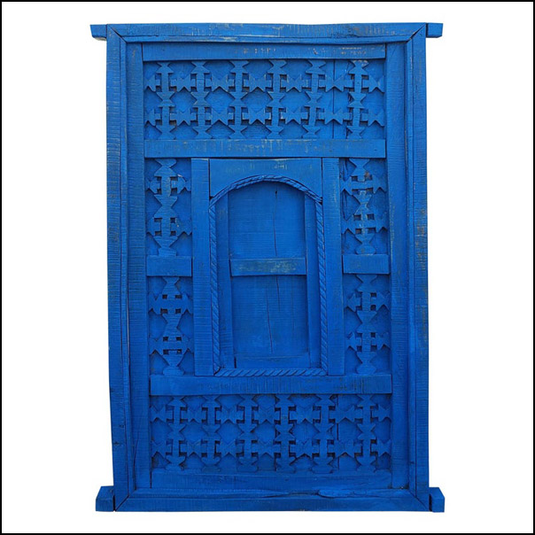 Distressed Moroccan Blue Door / Gate / Shutter