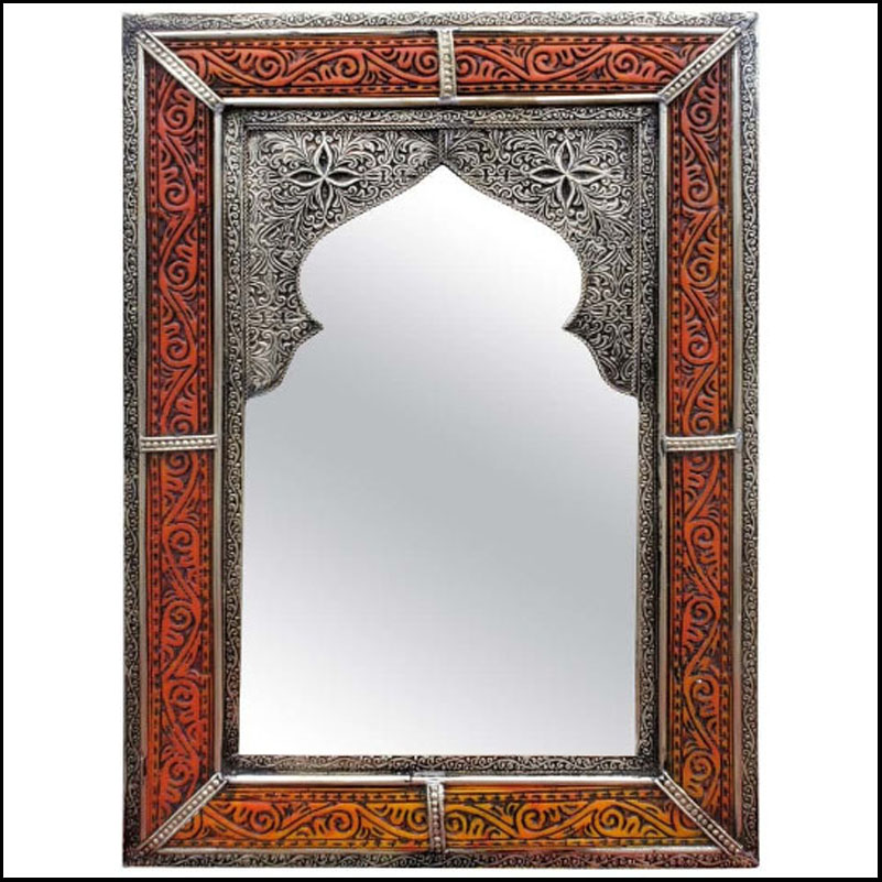 Moroccan Rectangular Metal Mirror, Har 21