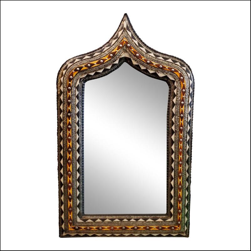 Medium Moroccan Arched Camel Bone Mirror