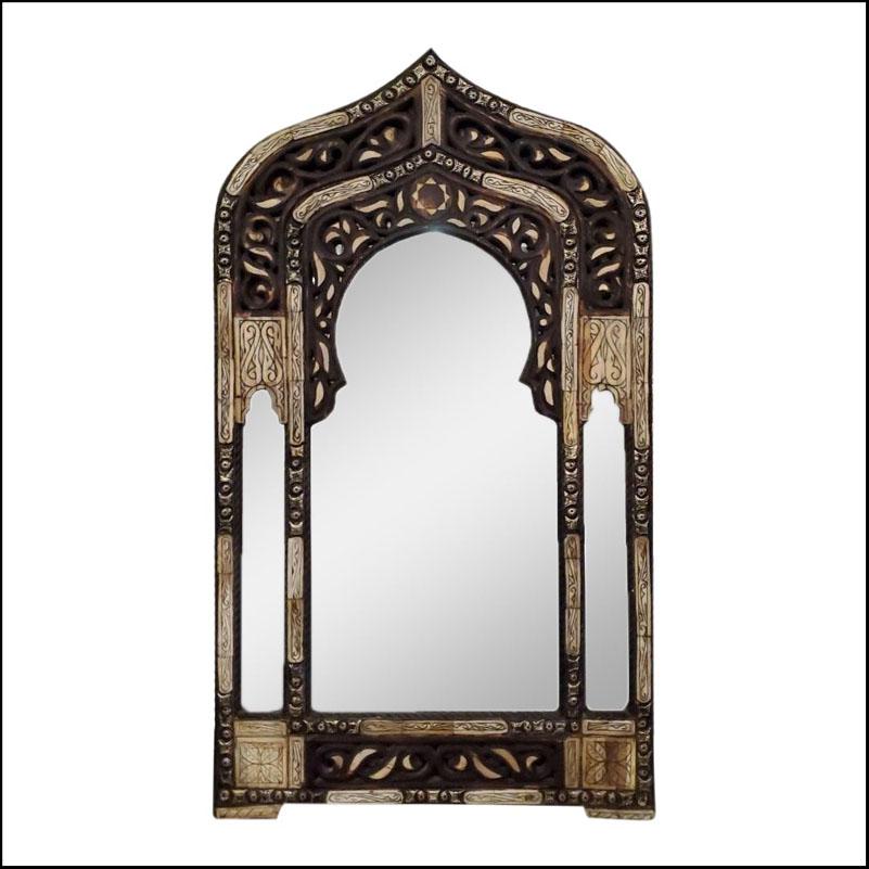 Kasba Moroccan Arched Camel Bone Mirror, 105LM24