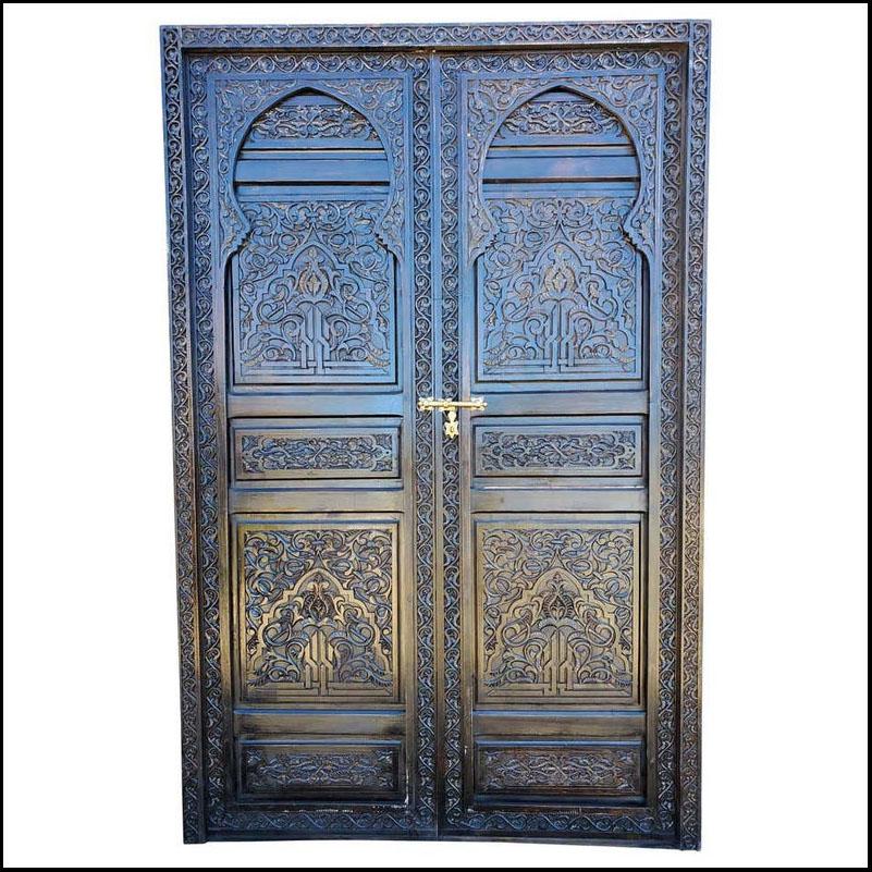 Studio Moroccan Wooden Door, Double Panel