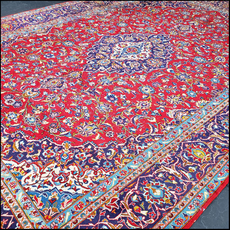 Extra Large Tabriz Persian Carpet, 100% Wool Rug