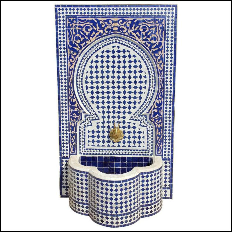 Extra Large 2-Tone Moroccan Mosaic Fountain, Marrakech 7119