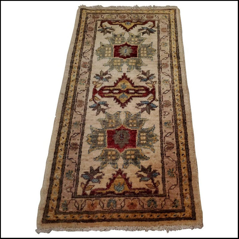 Medium Size Asian Persian Rug, Soft and Colorful / 221