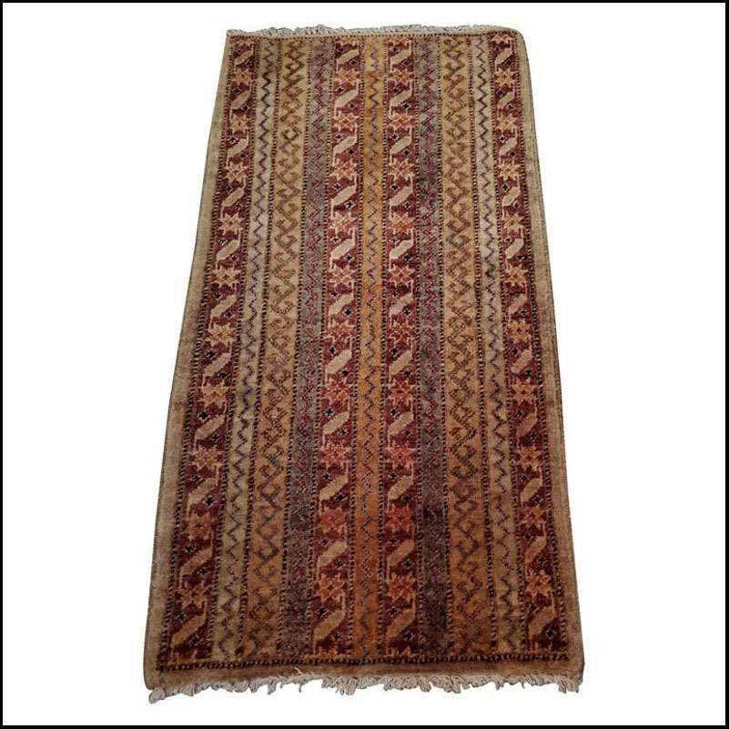Medium Size Asian Persian Rug, Colorful / 219++