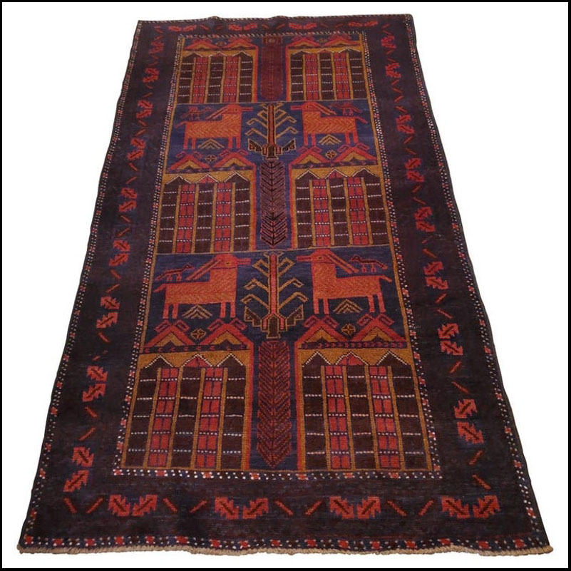 Medium to Large Size Afghan Area Carpet / Rug, Colorful / 11NO