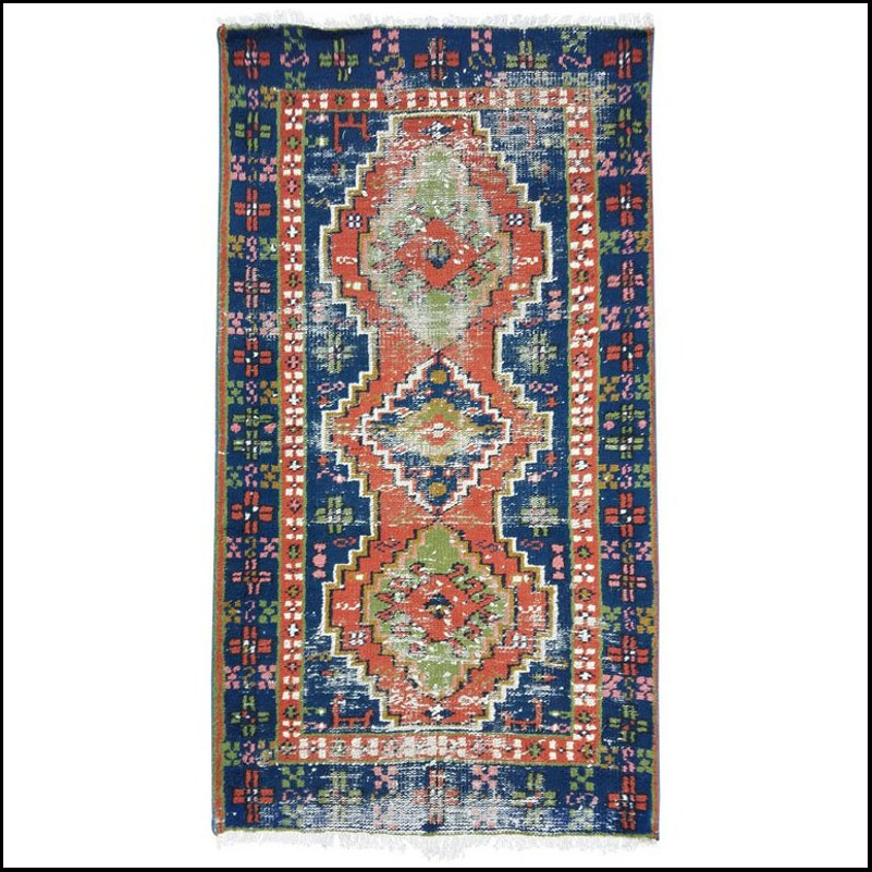 "Contemporary Turkish Area Rug – 2'11"" × 5'2″ – Sar 8"