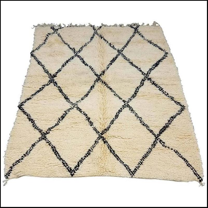 Moroccan Black / White Beni Ourain Rug
