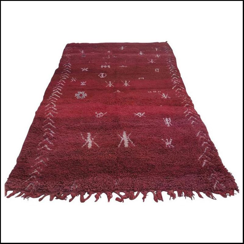 Vintage Moroccan Berber Red Wool Rug
