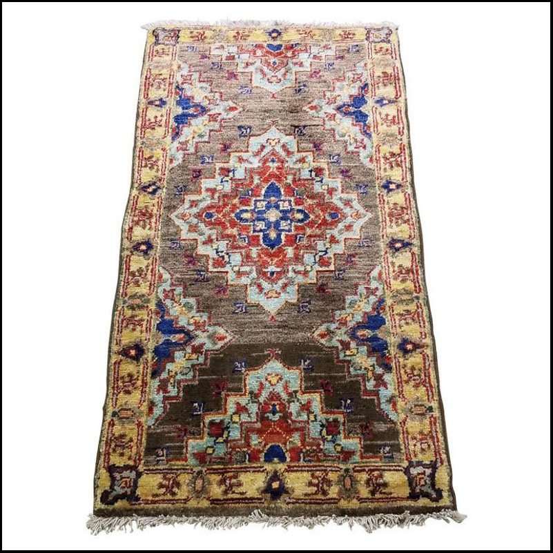 Medium Size Asian Area Rug, Colorful / 209