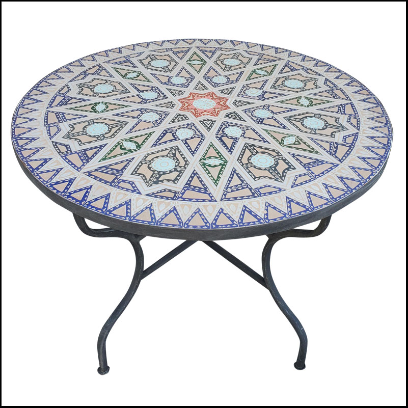 41″ Chelha Pattern Moroccan Mosaic Table