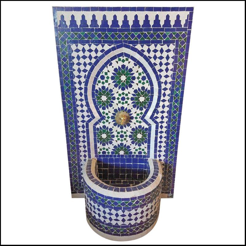 Tazia G Moroccan Mosaic Fountain – All Glazed