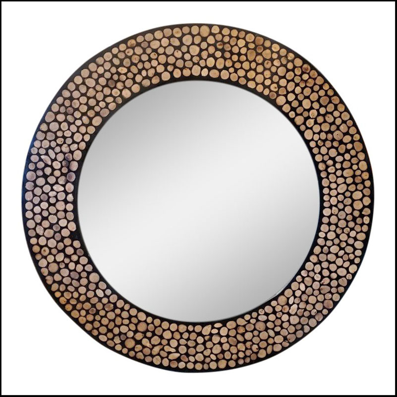 Large Size Moroccan Round Mirror, Resin Inlaid: Just arrived !!