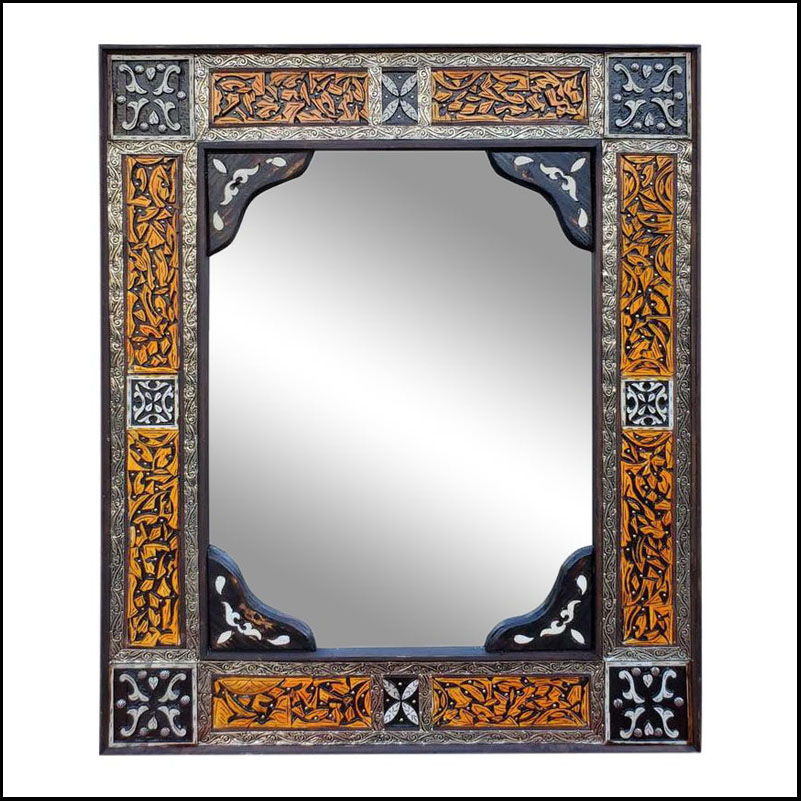 Moroccan Rectangular Camel Bone Mirror, 107/2M LM24