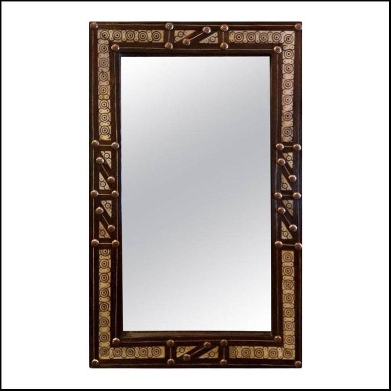 Ivory Bone Look Moroccan Mirror – Rectangular