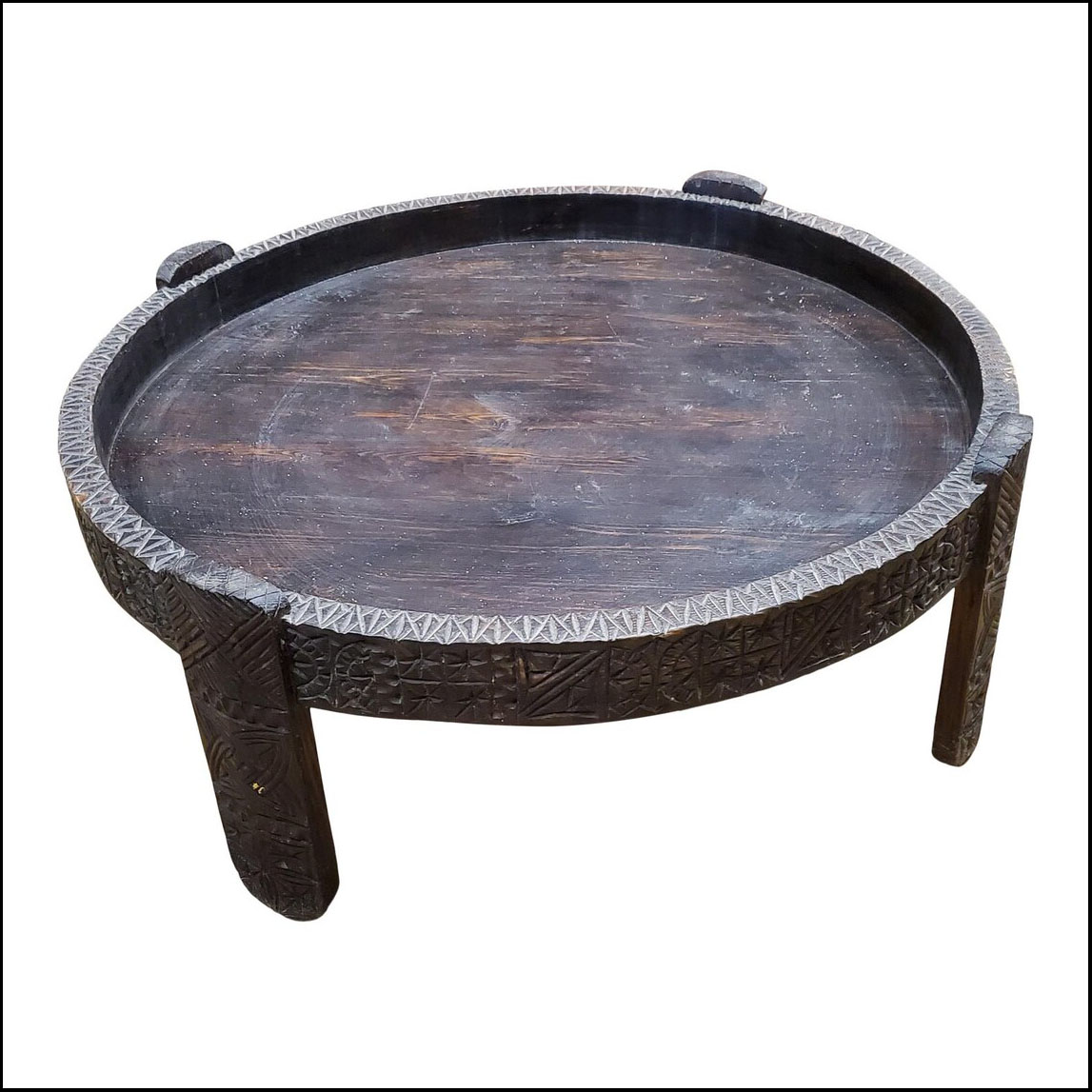 Moroccan wooden coffee table, Tayfour Style