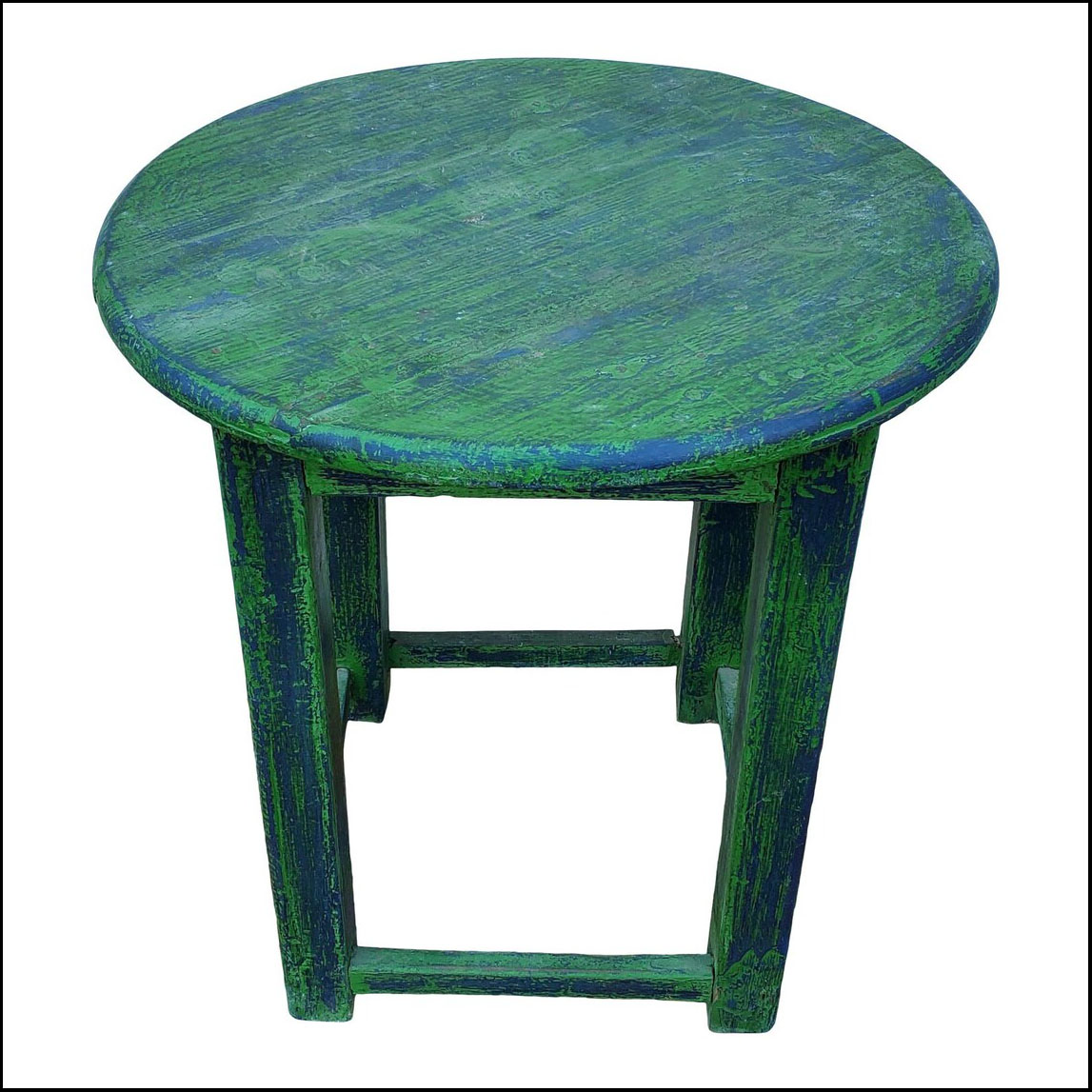 Hand Painted Moroccan Round Wooden Table