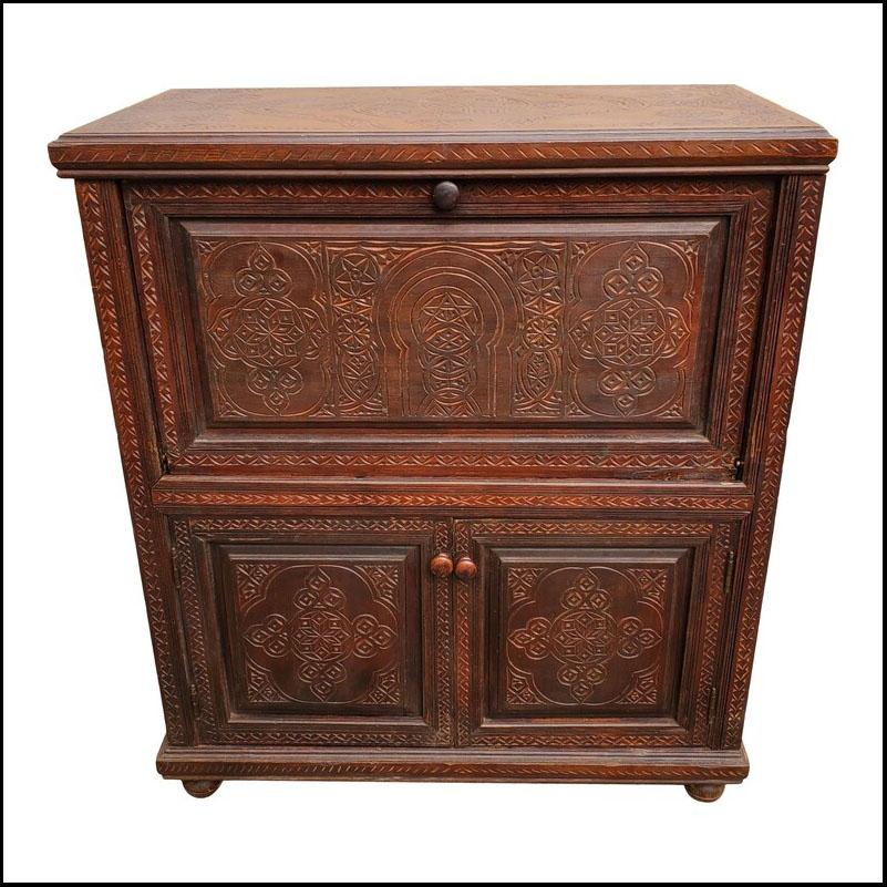 Moroccan Cedar Wood Cabinet, Plenty of Storage